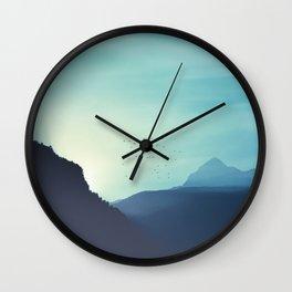 Sundancer - Alpine valley at sunrise Wall Clock
