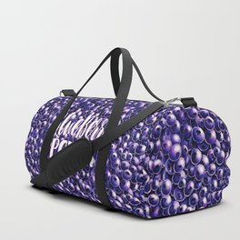 Blueberry power quote Fresh berry pattern illustration Duffle Bag