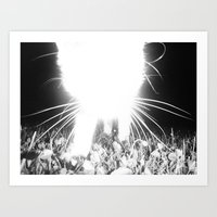 larry Art Prints featuring Larry by M O T E .