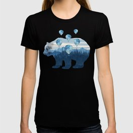 Misty Forest Bear - Hot Air Balloons T-shirt