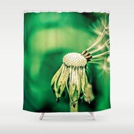 Dandelion Brave Green Chief Shower Curtain