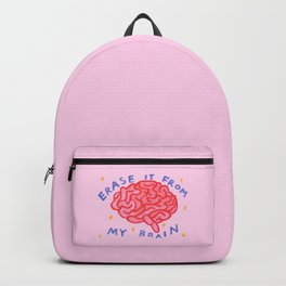 erase it from my brain Backpack