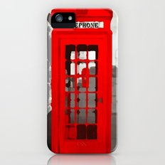 London-Red Phone Booth  Slim Case iPhone SE