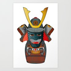Samurai Matryoshka/Nesting Doll Art Print