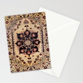 Silk Tabriz Azerbaijan Northwest Persian Rug Print Stationery Cards