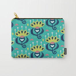 Royal Ikat Carry-All Pouch