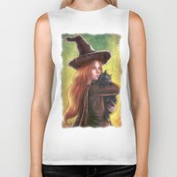 witch Biker Tanks featuring Witch by Miguel Angel Carroza
