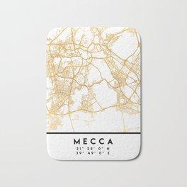 MECCA SAUDI ARABIA CITY STREET MAP ART Bath Mat