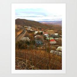Hillside View Art Print