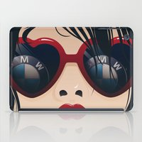bmw iPad Cases featuring BMW Girl by Seventy Two Studio