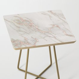 Marble Rose Gold Blush Pink Metallic by Nature Magick Side Table