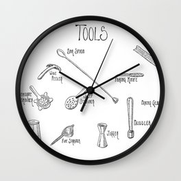 Bar Tools Wall Clock