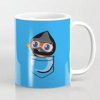 warcraft Mugs featuring Ninja Pepe! by SlothgirlArt