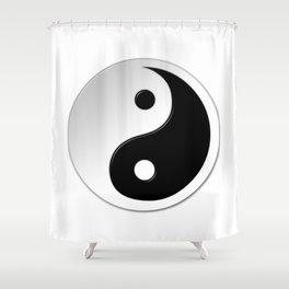 Yin Yang Symbol Shower Curtain