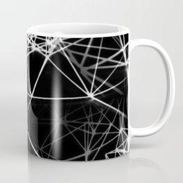 Geometric himmeli ornaments as minimal negative pattern Coffee Mug