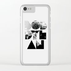 Bob Dylan Font Sunglasses Clear iPhone Case