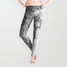 Beautiful Girl with ROSE Leggings