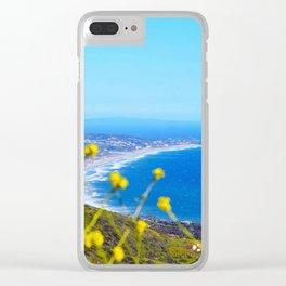 Malibu Flowers Clear iPhone Case
