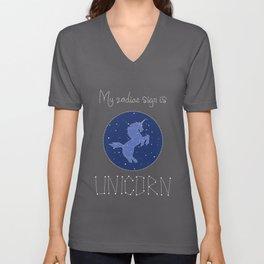 My Zodiac Sign is Unicorn Unisex V-Neck
