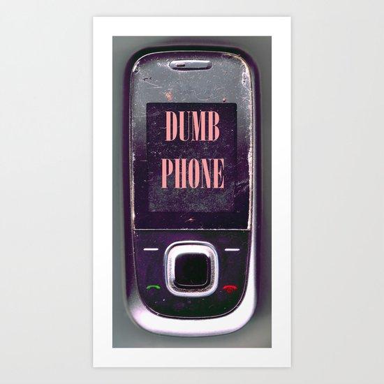 Dumb Phone Art Print