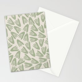 Papier Découpé Abstract Cutout Pattern in Light Sage Green Stationery Cards