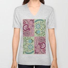 Paisley quilt design Unisex V-Neck