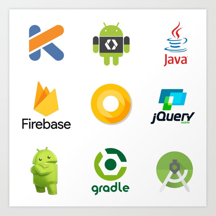 android studio developer firebase kotlin jquery java android oreo gradle stickers  9 in 1 Kunstdrucke
