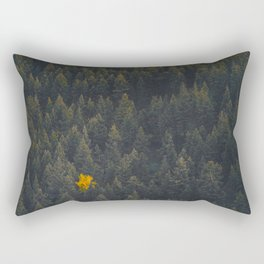 Modern Landscape Photography Single Autumn Tree Pine tree Forest Green Trees Yellow Focal Point Rectangular Pillow