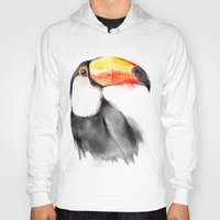 toucan Hoodies featuring Toucan by akaori_art