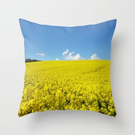 Field of Rapeseed Throw Pillow