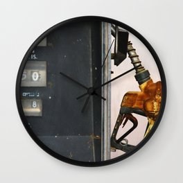 Gas Station Wall Clock