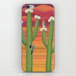 gila woodpeckers on saguaro cactus iPhone Skin