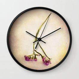 Abandoned Purple Flower Wall Clock
