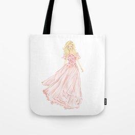 The Pink Dress Tote Bag
