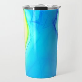 Blue woman Travel Mug