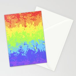 Marble Pride Rainbow Stationery Cards