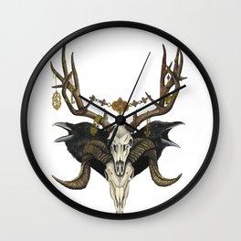 Aries-Deer-Raven Wall Clock