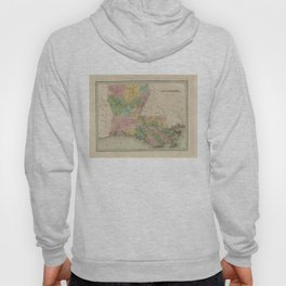 Vintage Map of Louisiana (1838) Hoody