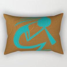 Teal Kokopelli Rectangular Pillow