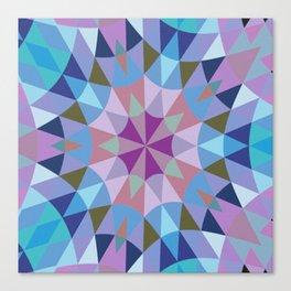 Lavender Retro Geometry Canvas Print