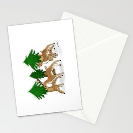 Winter herd Stationery Cards