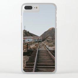 Derailed Train Clear iPhone Case