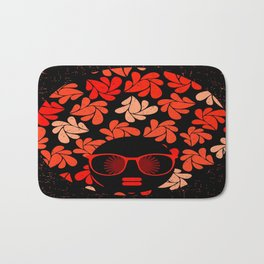 Afro Diva : Coral Red Bath Mat