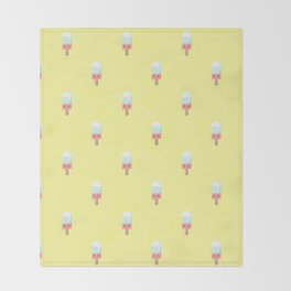 Kawaii melting popsicle pattern Throw Blanket
