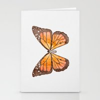 nirvana Stationery Cards featuring Caterpillar's nirvana by Benjamin Castle