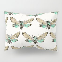 Summer Cicada – Mint & Tan Palette Pillow Sham