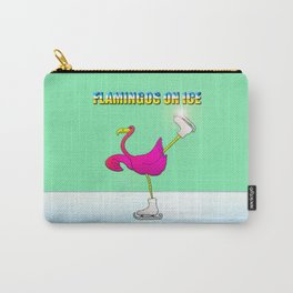 Flamingos on ice Carry-All Pouch