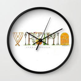 UVA - Charlottesville Wall Clock