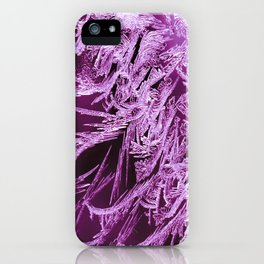 White Ice Crystals On A Purple Background #decor #society6 #homedecor iPhone Case