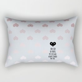 SEA OF HEARTS Rectangular Pillow